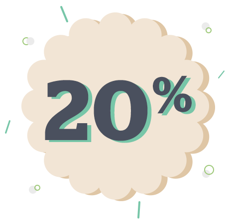 We donate 20% of the sales from each fundraising event.